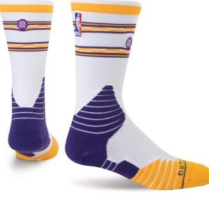 Stance on-court Lakers Basketball Socks NWT 9-12
